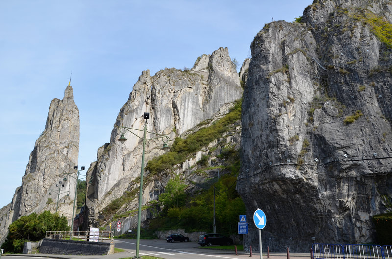Rocher Bayard Rock in Dinant. Belgium.