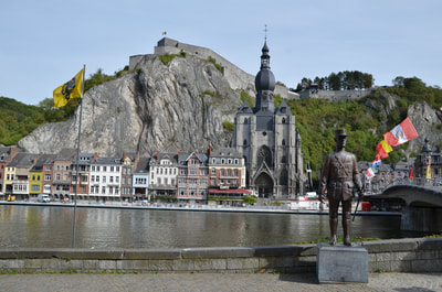 The city of Dinant in Belgium.