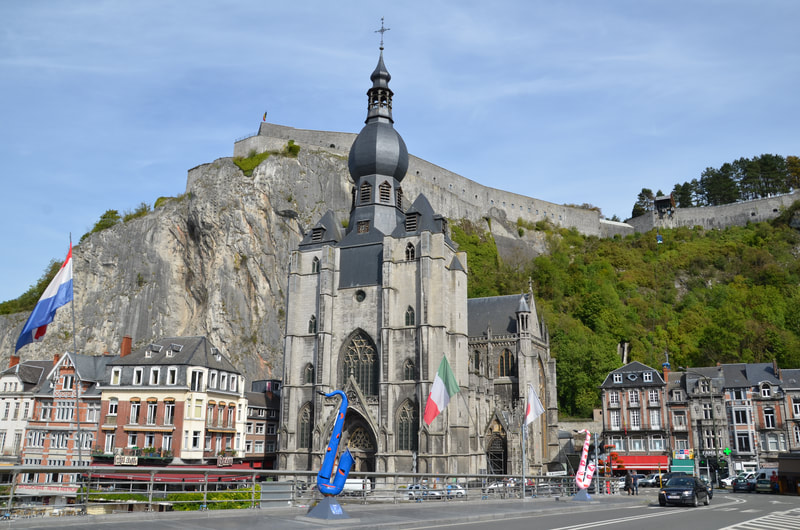 Church of the Virgin Mary in Dinant. Belgium.