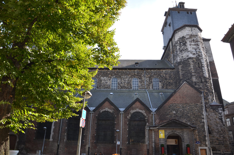 The church Dionysius in Liege. Belgium.
