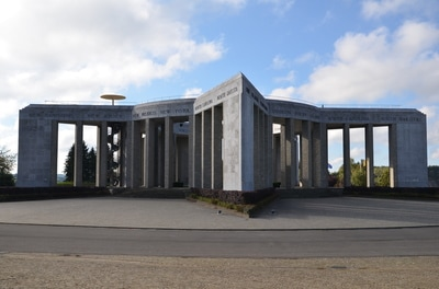 Monument on the Mardasson hill in Bastogne. Belgium.