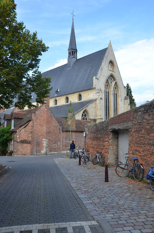 The church John the Baptist in large  beguinage u, in Leuven. Belgium.