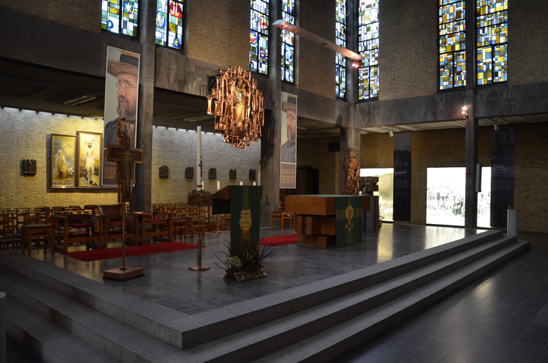 Chapel of St. Antoni in Leuven where the crypt with the grave of Father Damian, the protector of lepers is located.