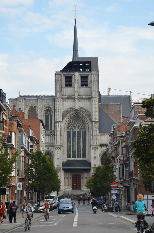 The church Peter in Leuven. Belgium.
