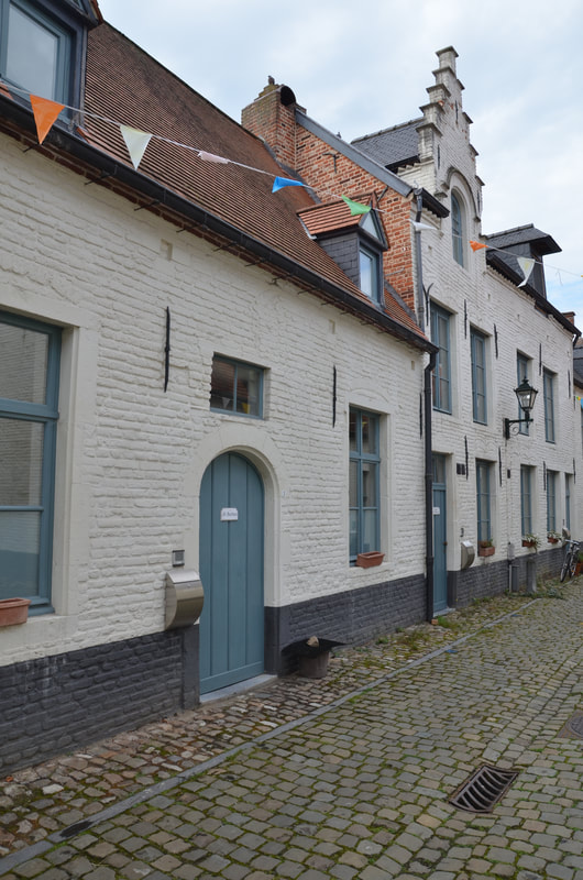 Small  beguinage  in Leuven. Belgium.