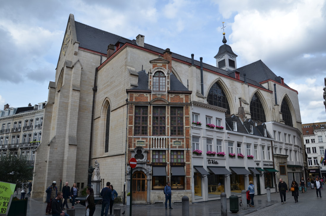 The church Nicholas in Brussels