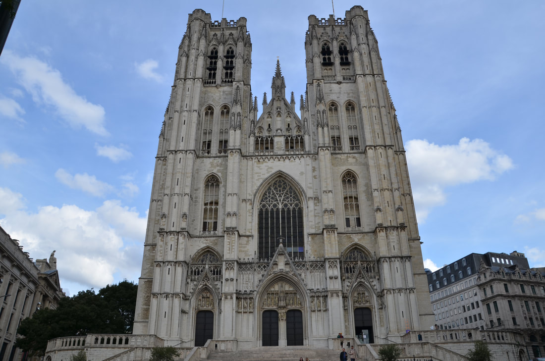 Cathedral of Saints Michael and Gudula in Brussels.