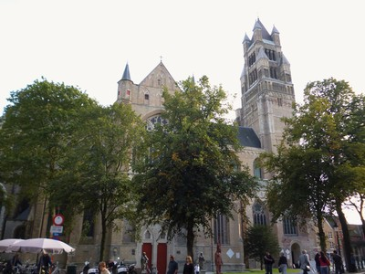 St. Patrick's Cathedral Salwator in Bruges. Belgium.